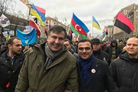 Hikmət Cavadov Saakaşvili ilə